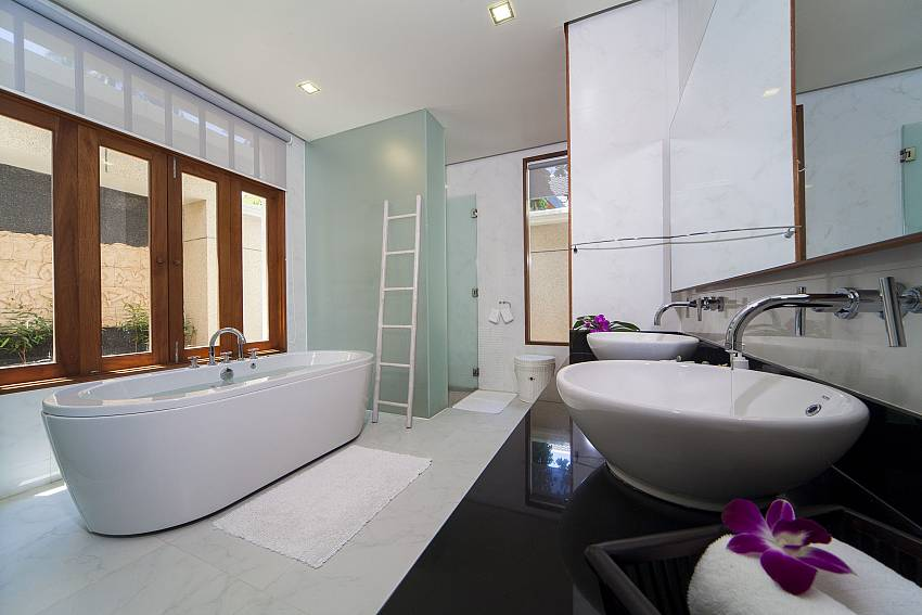 A bathroom with a ladder-Asian Rhapsody_infinity pool_5 bed villa_Rawai_Phuket_Thailand