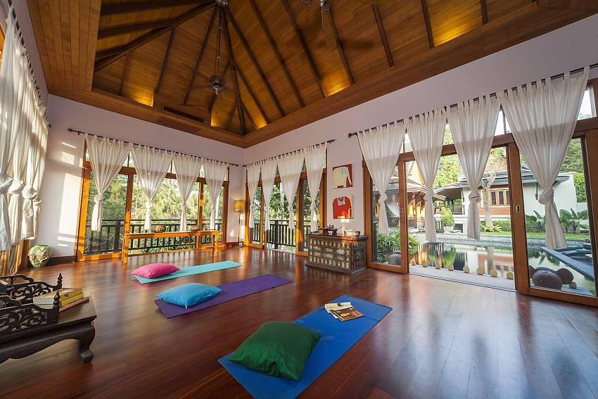 Large Yoga and Music Room-Asian Rhapsody_infinity pool_5 bed villa_Rawai_Phuket_Thailand
