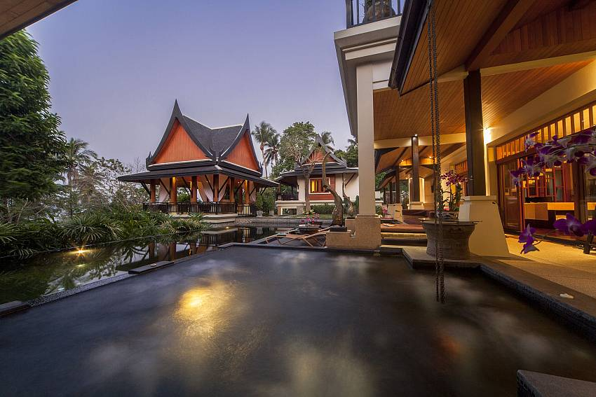 Royal Luxury at Night-Asian Rhapsody_infinity pool_5 bed villa_Rawai_Phuket_Thailand