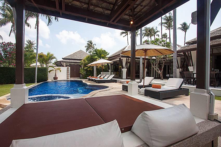 Pavilion near swimming pool with property Blossom Dew Villa C in Samui