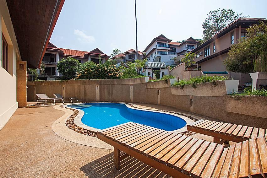 Sun bed near swimming pool Ban Talay Khaw O11 in Koh Samui