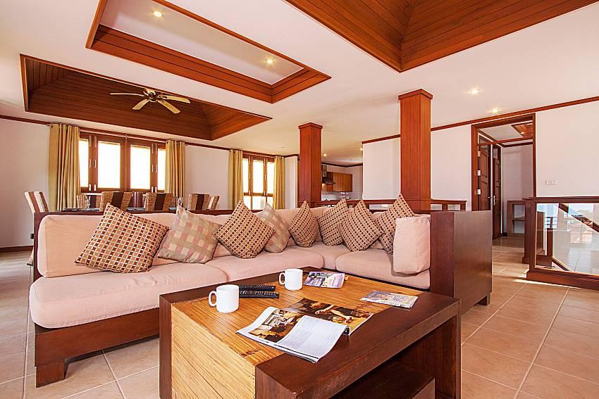 Living room Ban Talay Khaw O11 in Koh Samui