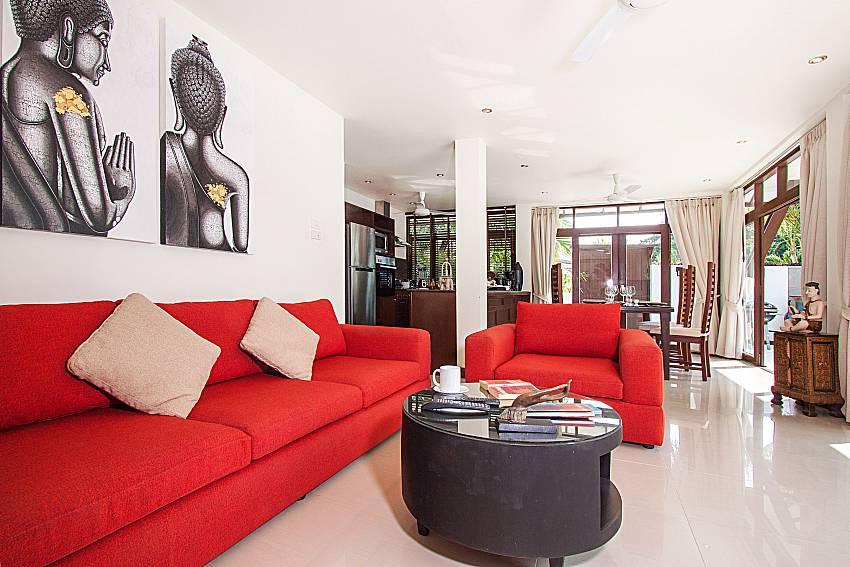 Living room Blossom Dew Villa D in Koh Samui