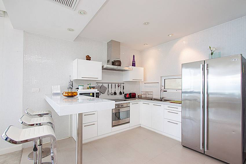 Kitchen Sirinda Samui Sea View Apartment in Samui