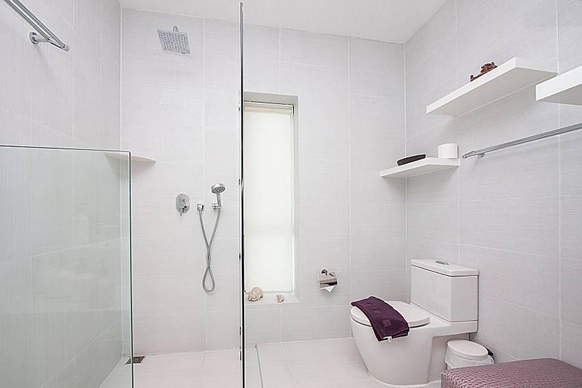 Bathroom with shower Sirinda Samui Sea View Apartment in Samui