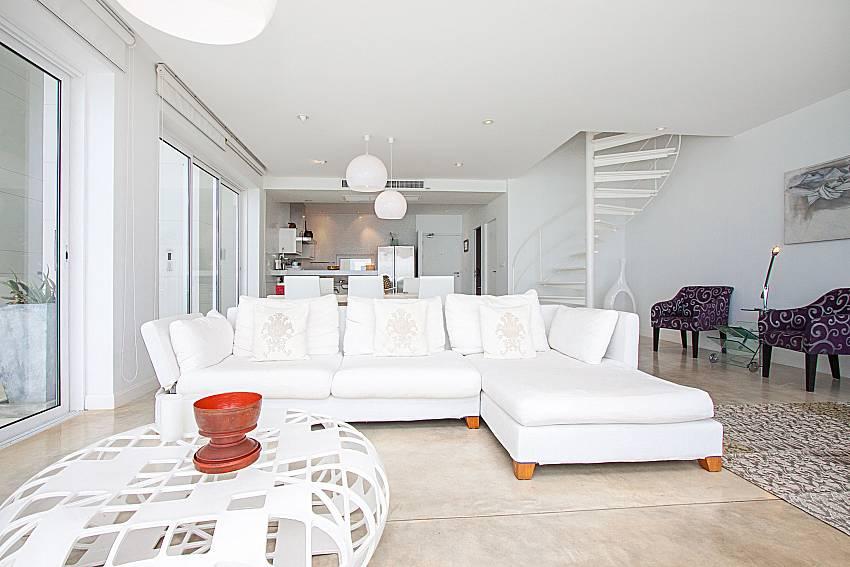 Living room Sirinda Samui Sea View Apartment in Samui