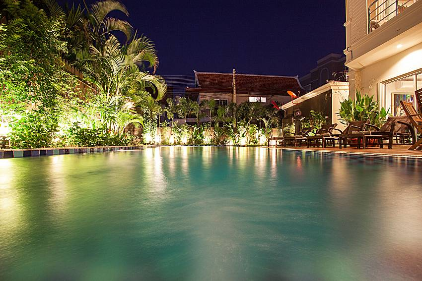 Swimming pool and property City Haven Villa in Central Pattaya