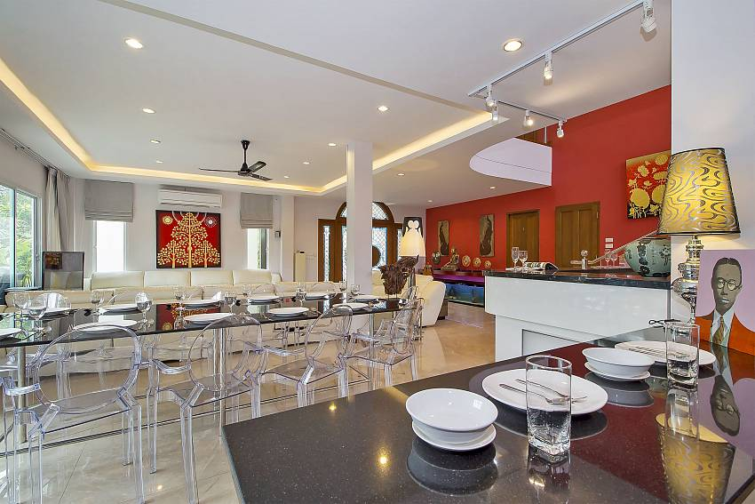 Open plan dining area at City Haven Villa in Central Pattaya
