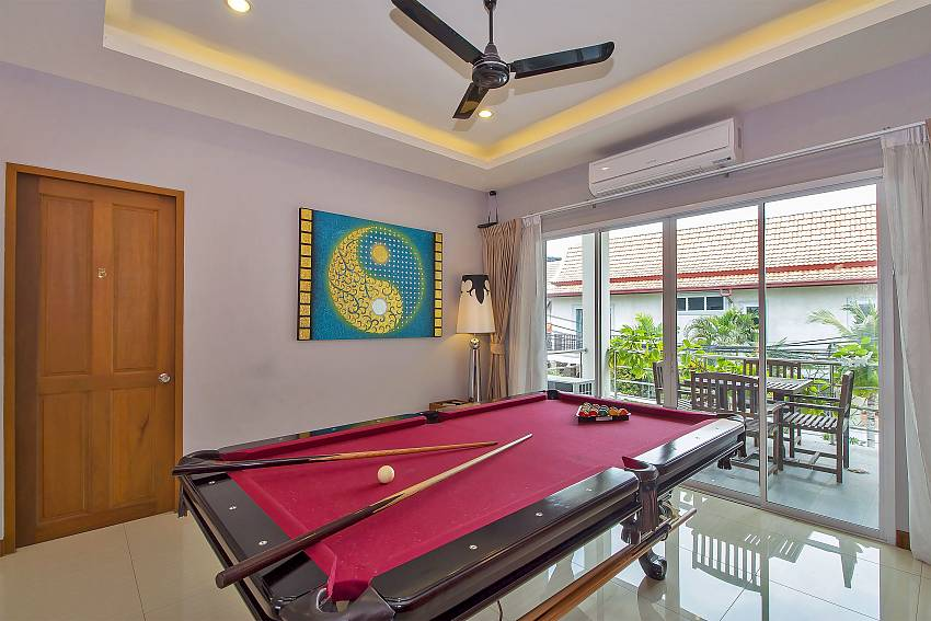 Billard table in City Haven Villa in Central Pattaya