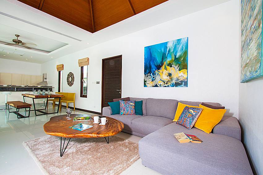 Living room Villa Rachana in Phuket