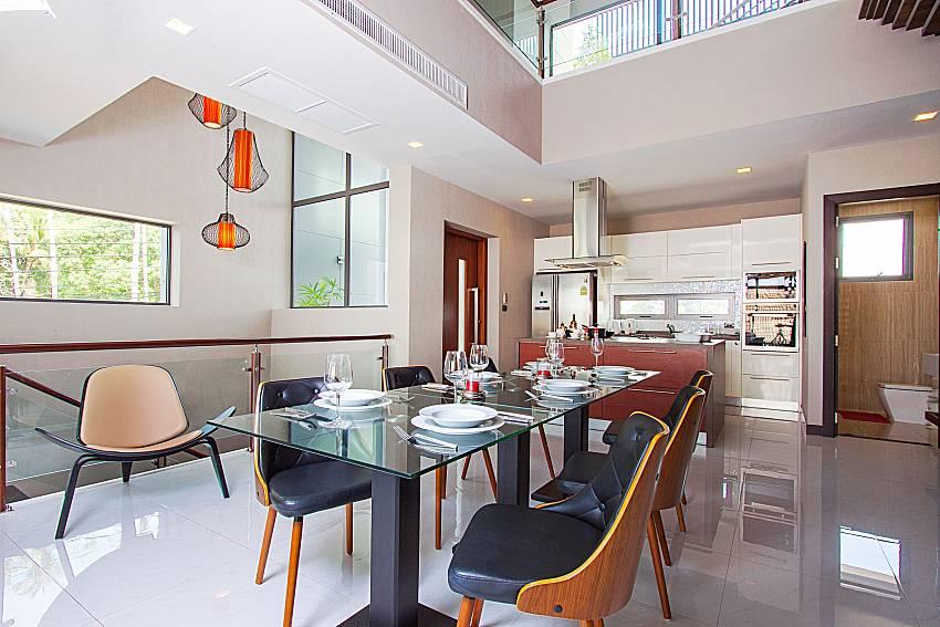 Dinning area Villa Yamini in Rawai Phuket