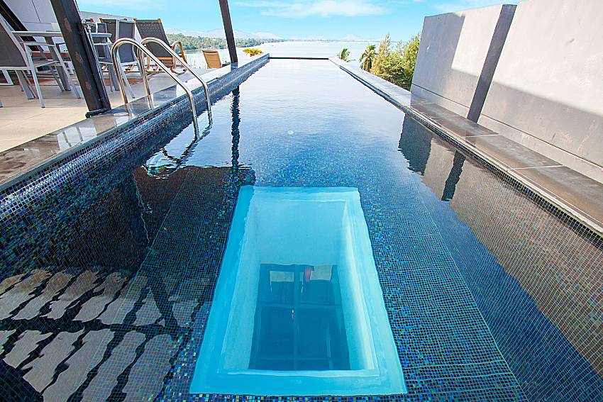 Swimming pool with sea view Villa Yamini in Rawai Phuket