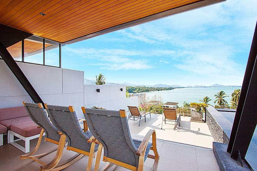 Seat area with sea view Villa Yamini in Rawai Phuket