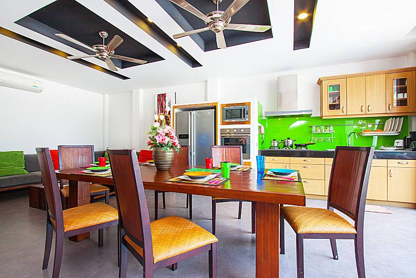 Dinning area Villa Elina in Phuket