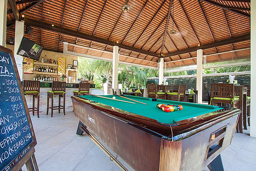 Pool table Maprow Palm Villa No. 9 in Samui