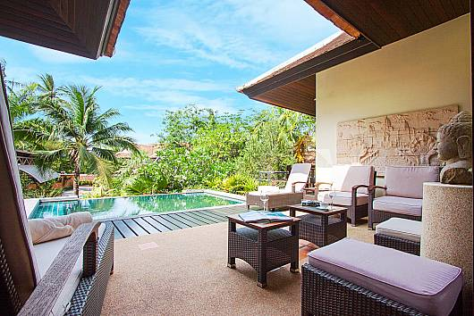 Аренда виллы на Самуи: Maprow Palm Villa 301  - 3 Beds, 3 Спальни. 11960 бат в день