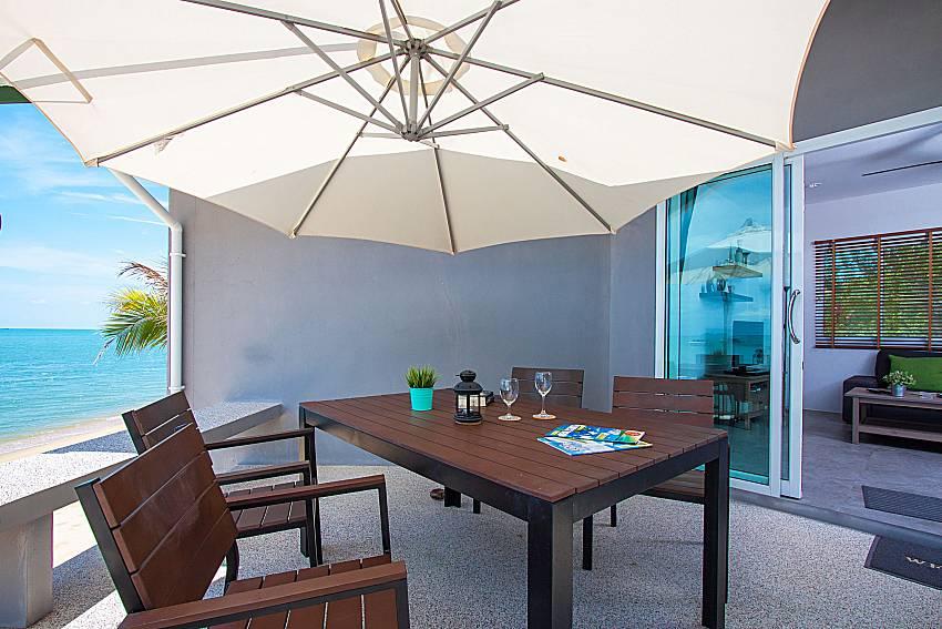Seat and table Interstellar Beachfront Villa B in Samui