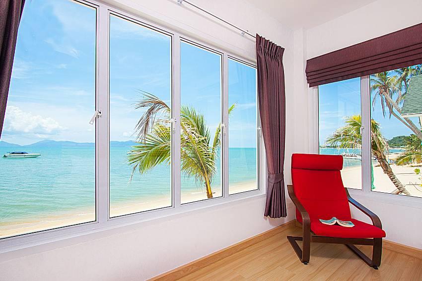 Seat and sea view Interstellar Beachfront Villa B in Samui