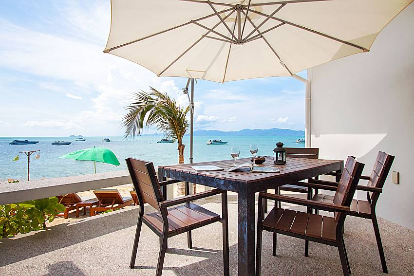 Seat and table Interstellar Beachfront Villa A in Samui