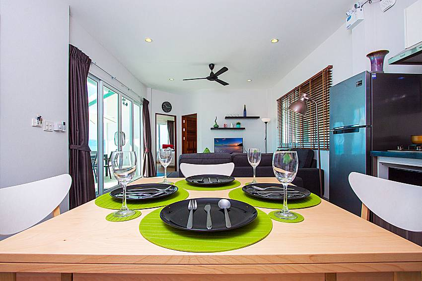 Dinning area Interstellar Beachfront Villa A in Samui