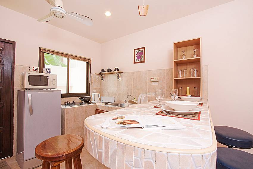 Kitchen Wan Hyud Villa No.201 at Chaweng in Samui