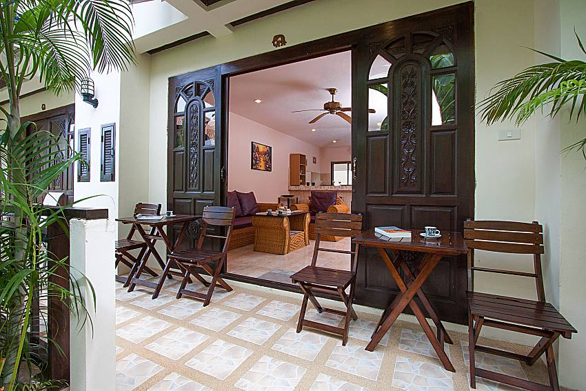 Seat and table Wan Hyud Villa No.204 at Chaweng in Samui