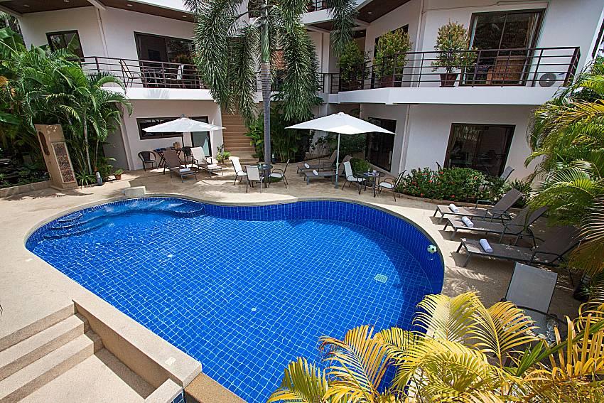 Swimming pool and property Wan Hyud Villa No.205 at Chaweng in Samui