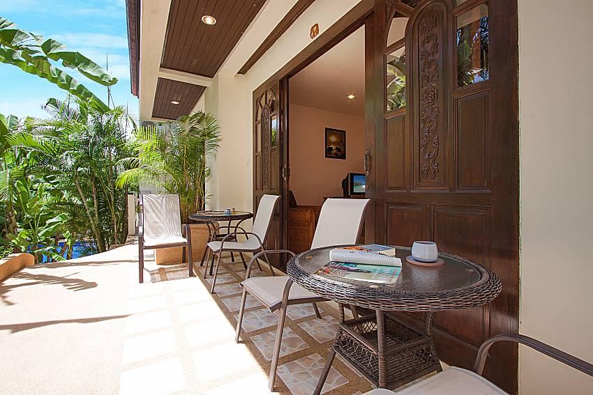 Seat and table Wan Hyud Villa No.205 at Chaweng in Samui