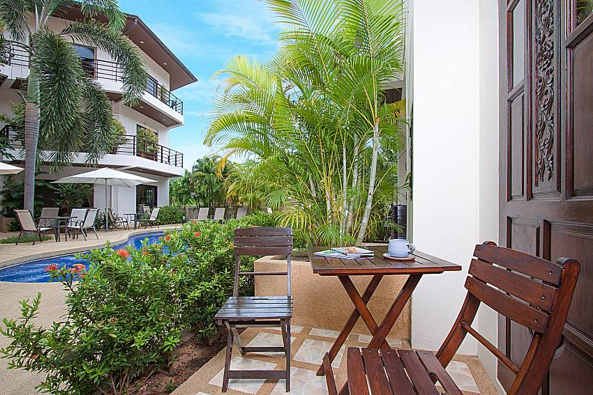 Seat and table with property Wan Hyud Villa No.202 at Chaweng in Samui