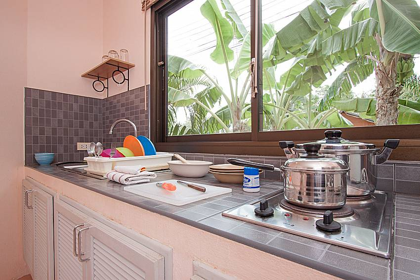 Kitchen Wan Hyud Villa No.101 at Chaweng in Samui