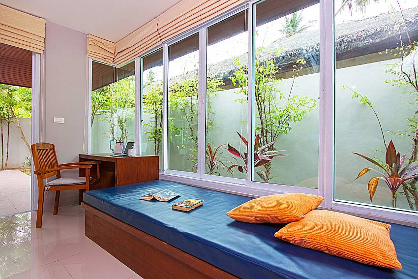 Seat and table Moonscape Villa 101 in Koh Samui