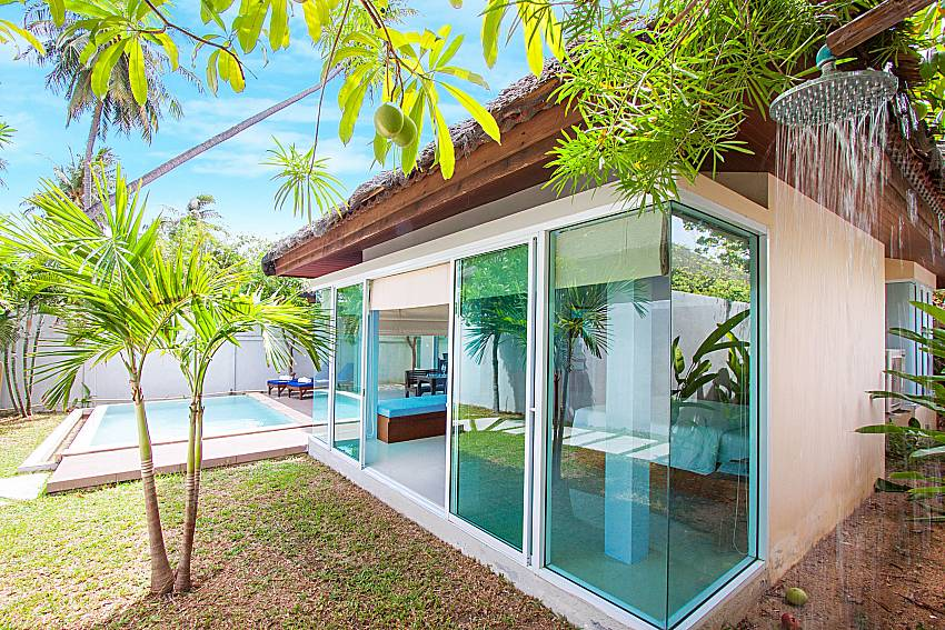 Swimming pool and property Moonscape Villa 102 at Chaweng in Samui