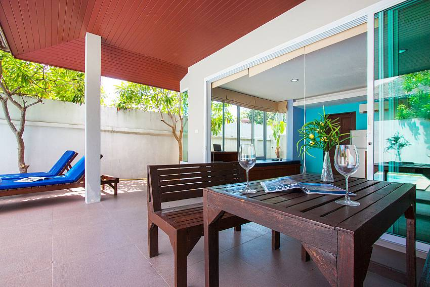 Seat and table Moonscape Villa 102 at Chaweng in Samui