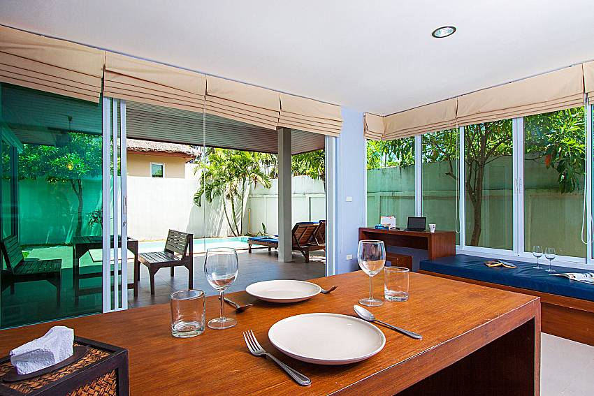 Dinning area Moonscape Villa 102 at Chaweng in Samui