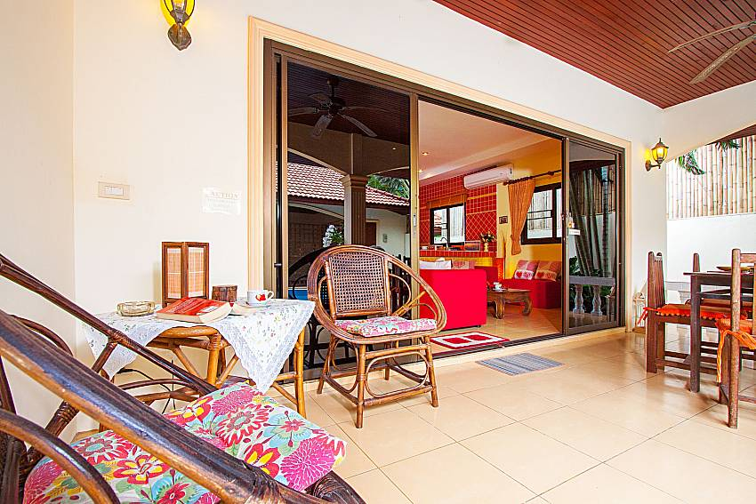 Seat and table Villa Kaipo in Phuket