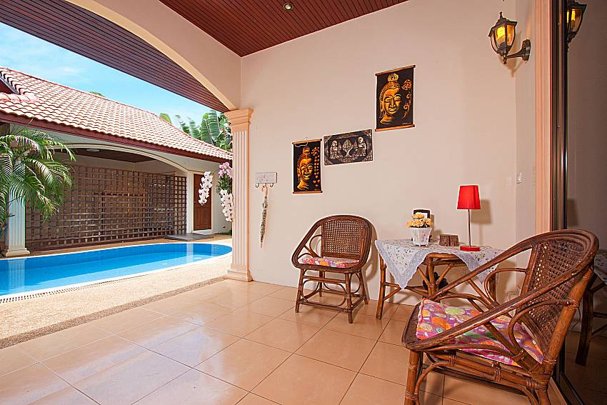 Seat and table Villa Genna in Rawai Phuket