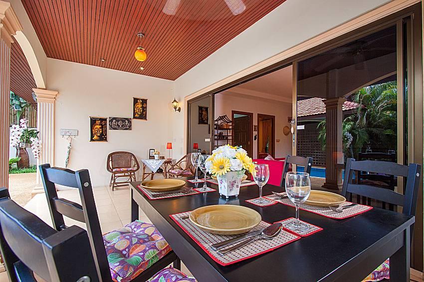 Dinning area Villa Genna in Rawai Phuket