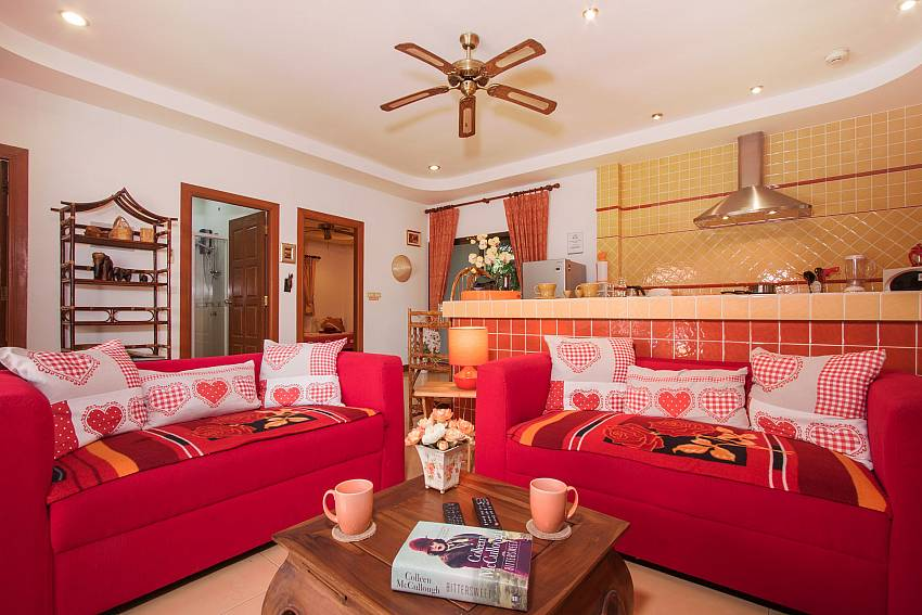Living room Villa Genna in Rawai Phuket