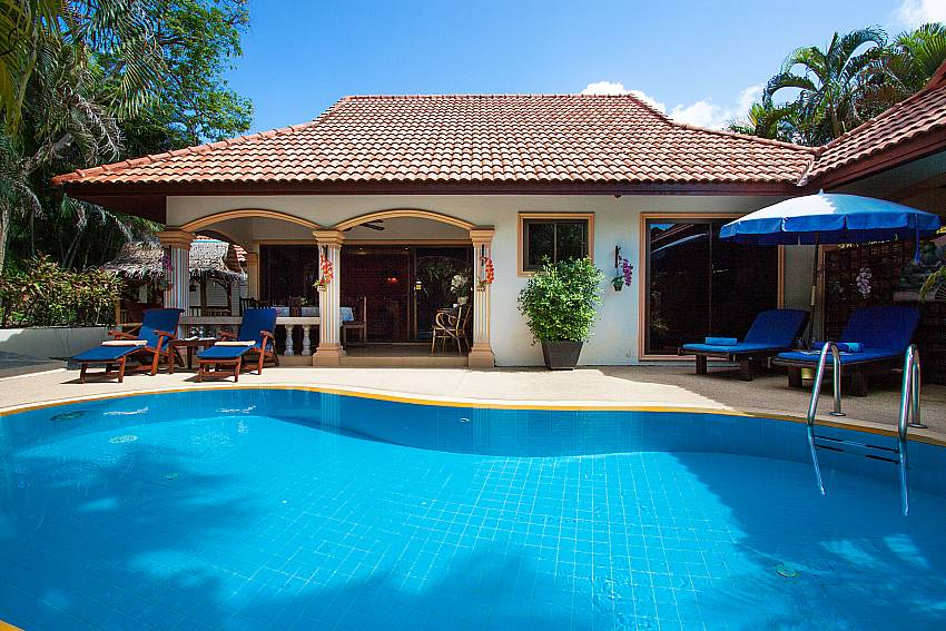 Swimming pool and property Villa Onella in Phuket