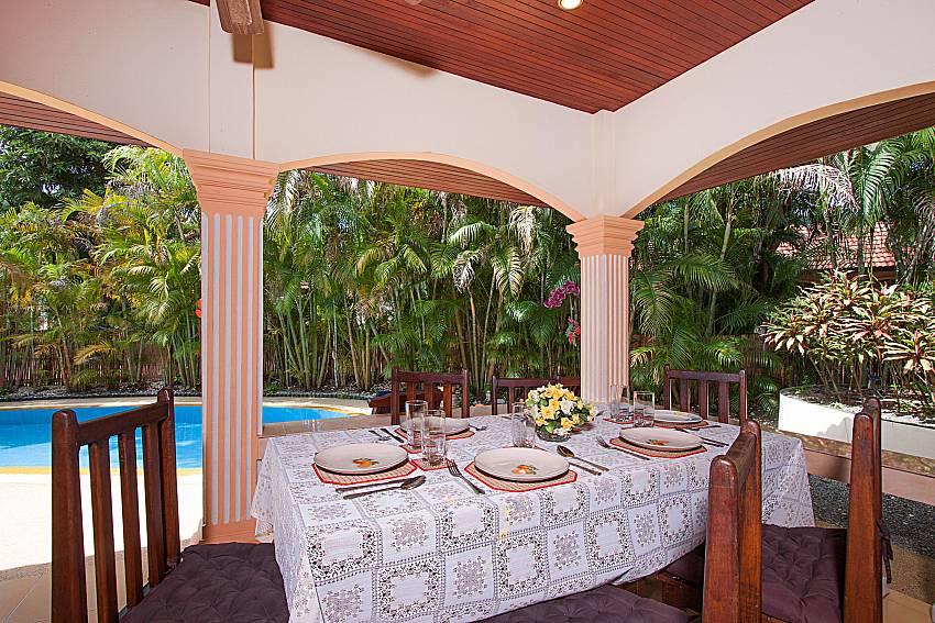 Dinning area Villa Onella in Phuket