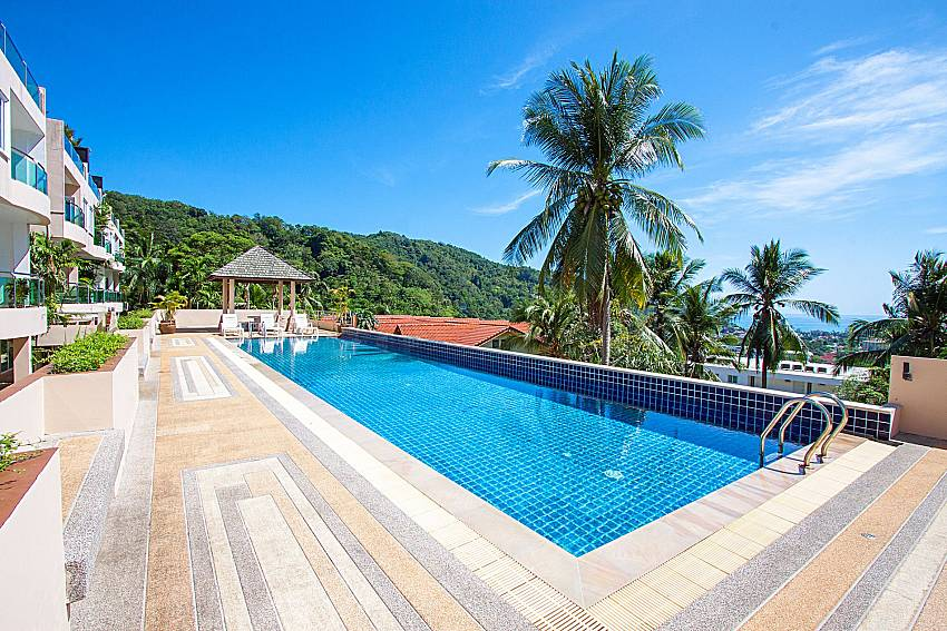 Swimming pool and sea view Vara Apartment at Kata in Phuket