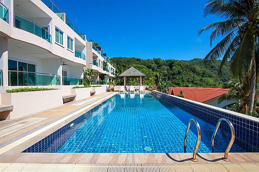 Swimming pool and property Vara Apartment at Kata in Phuket