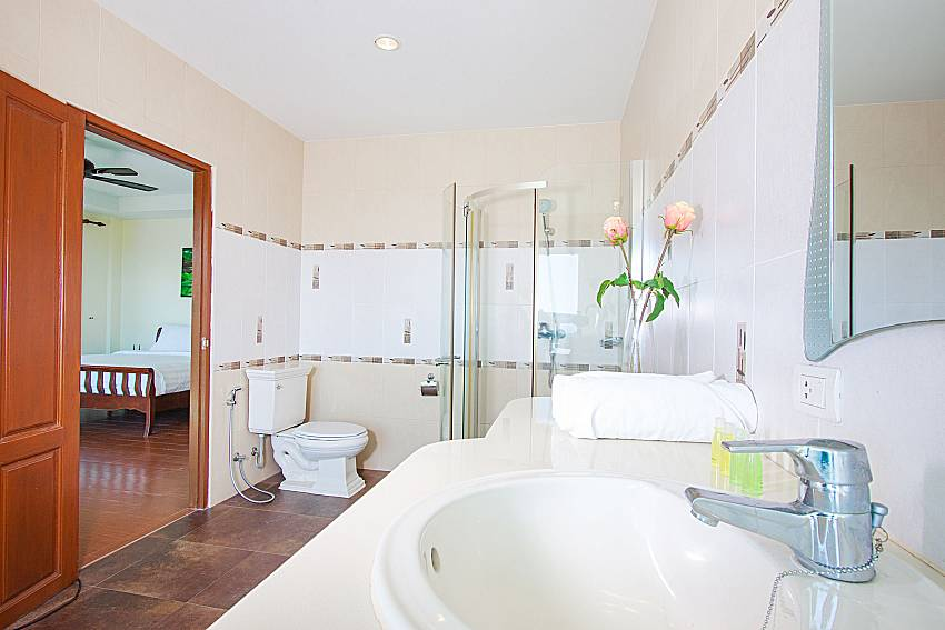 Bathroom with shower Vara Apartment at Kata in Phuket