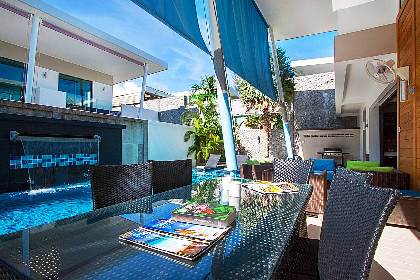 Seat and table Villa Fullan in Phuket