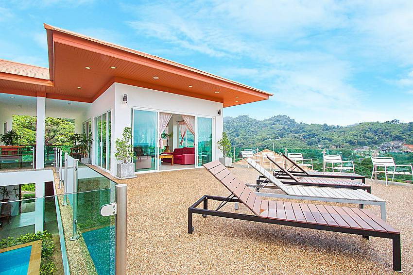 Sun bed and property Villa Niyati in Phuket