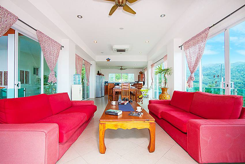 Living room Villa Niyati in Phuket