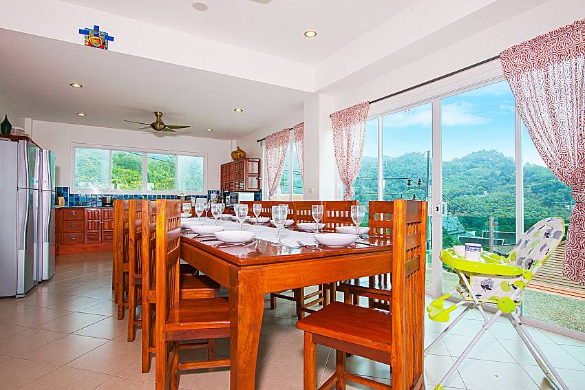 Dinning area Villa Niyati in Phuket