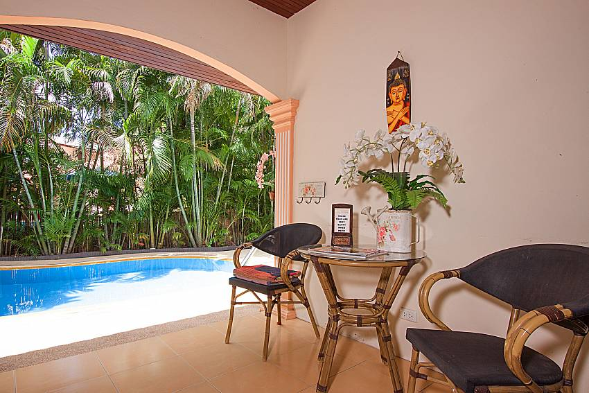 Seat and table Villa Maiki at Rawai in Phuket