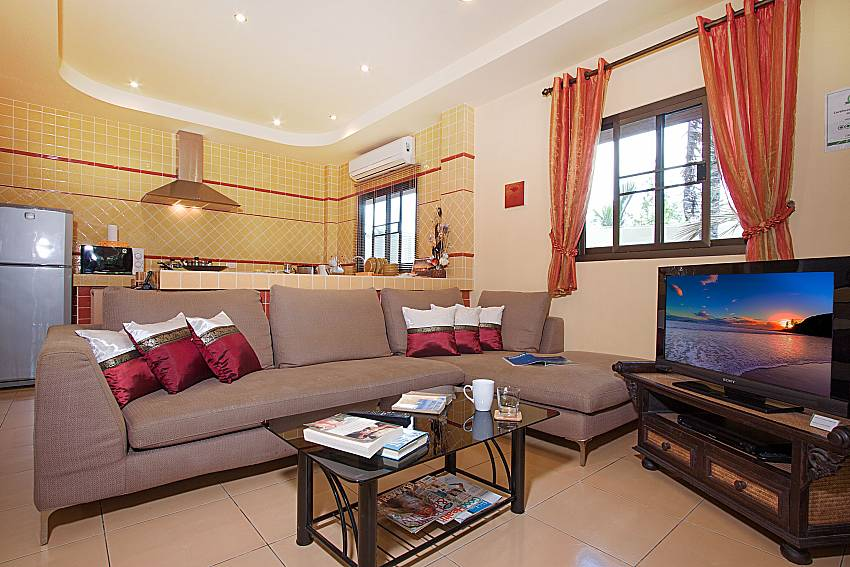 Living room Villa Maiki at Rawai in Phuket