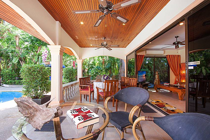 Seat and table Villa Oditi in Phuket